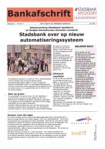 Stadsbank Apeldoorn - Bankafschrift