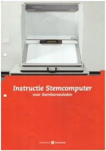gemeente Enschede - instructie stemcomputer